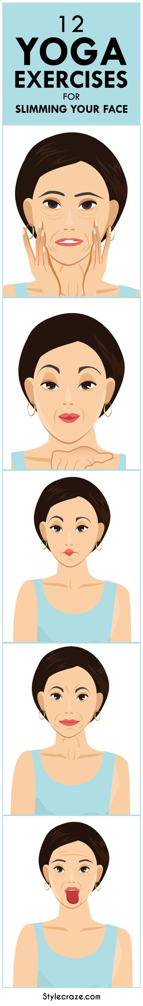 Most of us are so worried about the fat in our body that we forget to notice the fat in our face. Here are 12 effective exercises in yoga… www.stylecraze.co...