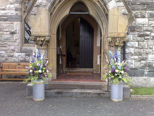 MAIA - Country Garden Wedding milk churn arrangements