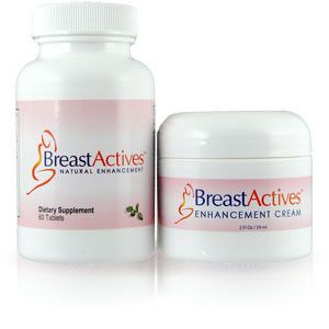 Breast actives herbal breast enlargement cream and pills.