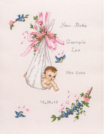 Vintage Baby Sampler - Cross Stitch Kit