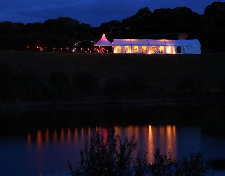 What a beautiful night shot of a party marquee from @Marquees.comLTD