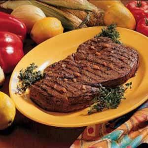 Marinated Sirloin Steak#tasteofhome #easterdinner
