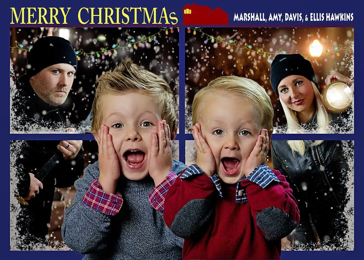 Home Alone Inspired Christmas Card Idea