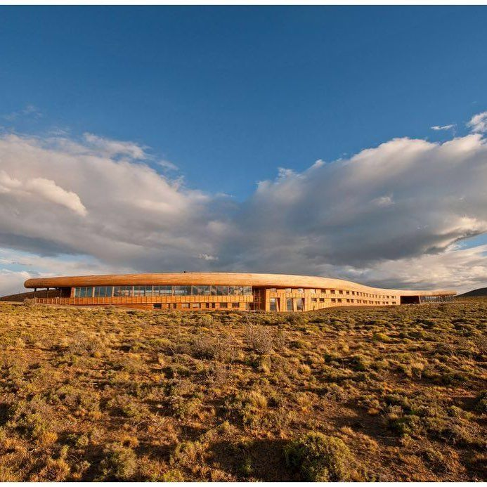 Tierra Patagonia Hotel in Chile by Cazú Zegers is located at the entrance of Torres del Paine National Park on the shore of Lake Sarmiento one of the limits of this National Park in Chile. #architecture #lifestyle  #conceptdesign #lifestylephotography #building #contemporary #amazingarchitecture #instaarchitecture  #archilovers #archdaily #house #green #naturet #sustainability #greenfuture #oxigen #plants #trees  #building #chileanarchitect #architects #natureathome #nature #beautiful…