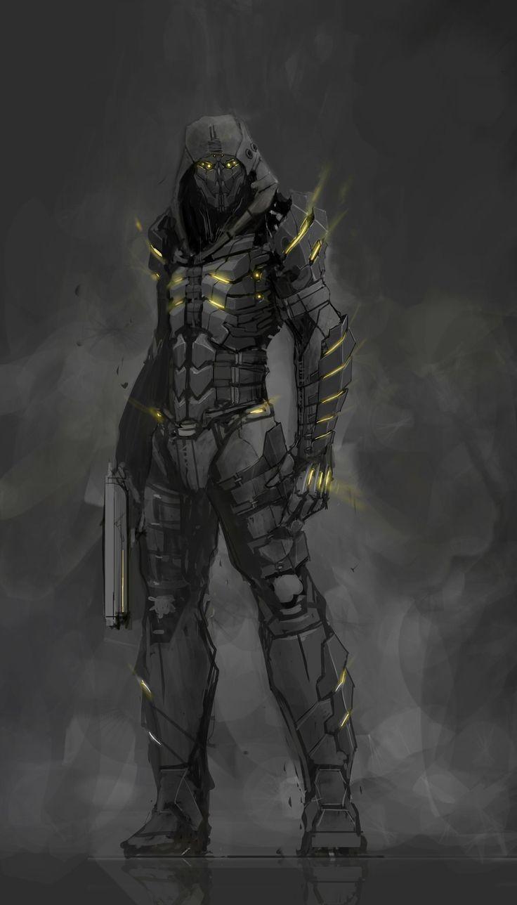 Asesino pistolero con tecnología G
