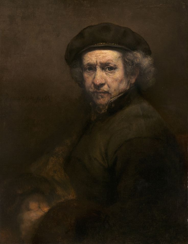 Rembrandt, Self Portrait, 1659 Oil on canvas 84.5 x 66 cm National Gallery of…