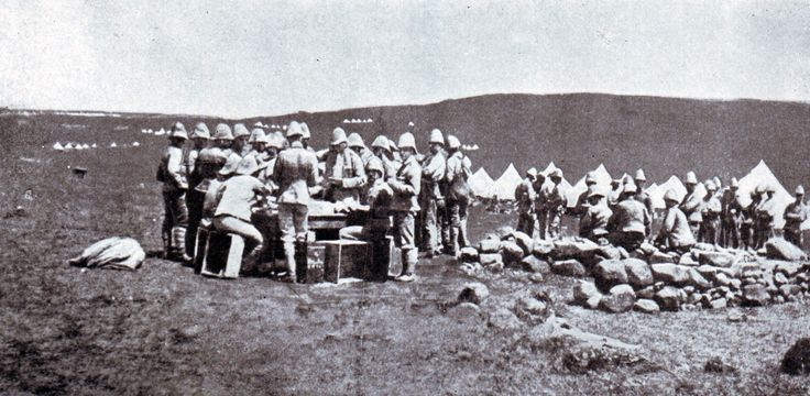 British troops in camp in Natal during the Boer War