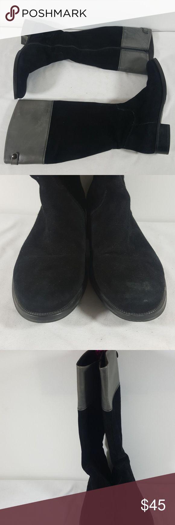 "Steven Dann by Tremp black/gray suede boots 38 1/2 Steven Dann by Tremp black/gray suede boots. Side zipper closure.  Size 38 1/2 Low heel 1""  Item-394 Steven Dann by Tremp Shoes Heeled Boots"