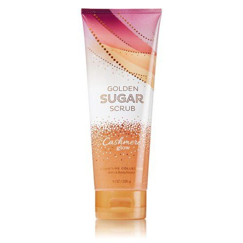 Bath & Body Works Cashmere Glow Golden Sugar Scrub 8 Oz by Bath & Body Works. $9.95. Ever girl deserves cashmere! Our new luxuriously rich formula naturally exfoliates with sugar crystals and conditions with apricot and sweet almond oils. Scrub combines with an enticing blend of golden peach and shimmering vanilla wrapped in soft cashmere musk, now in an easy, convenient no-mess squeezable tube. Skin will look and feel smooth after just one use!  - Now available in...