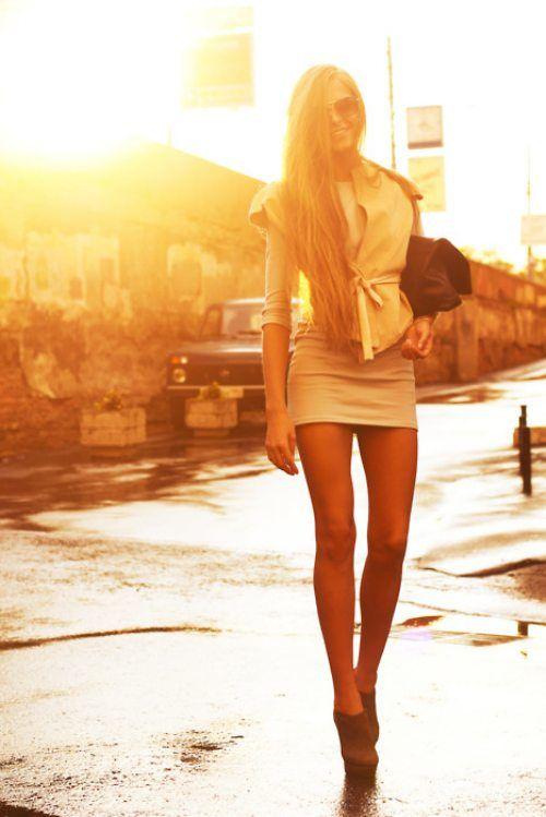 Woman With Long Leg Short Skirt 4