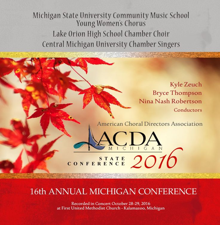 """ACDA Michigan State Conference (2016): Lake Orion H.S. Chamber Choir, Bryce Thompson 