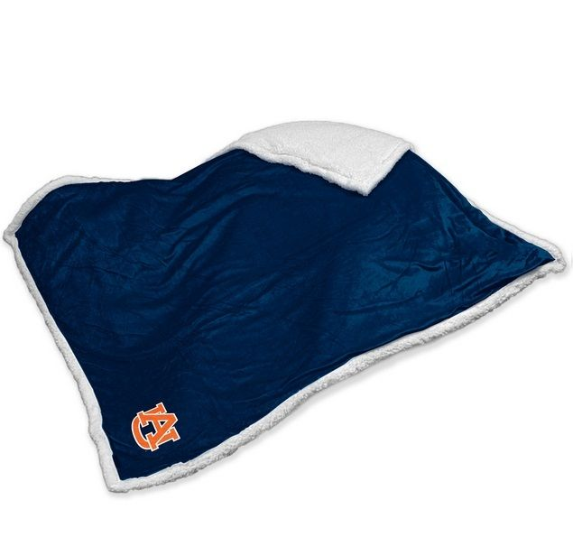 Auburn Tigers Embroidered Sherpa Throw Blanket
