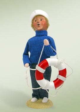 "Do you collect Byers' Choice Carolers? Just in time for warm weather, you'll love this Nautical Boy Caroler. This photo is part of the Visit Bucks County ""Repin It To Win It Contest."" Repin this photo until May 1, 2012 to win the Nautical Boy Caroler from Byers' Choice, Ltd."