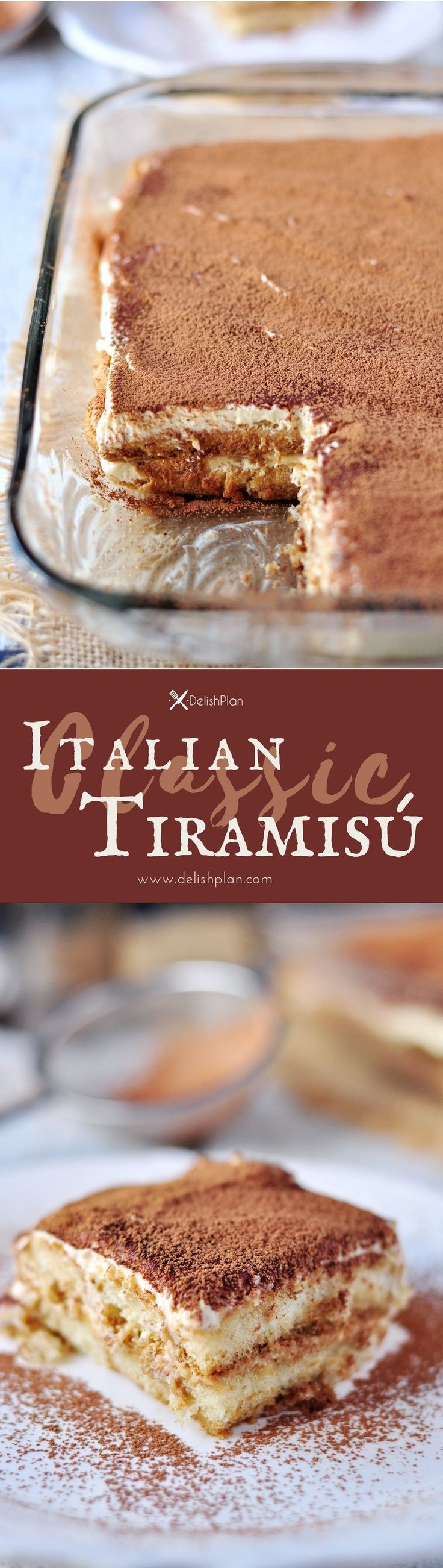 When the original can't really be improved, it's a classic. This Classic Italian Tiramisu is one of these classics. Watch our video to learn how to make it. Read more at http://www.delishplan.com/classic-italian-tiramisu/