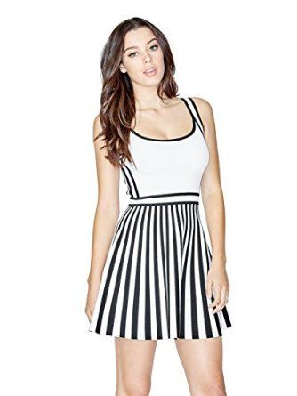 Happy mother's day! Buy the best gift for your lovely mother at the cheapest price ever! GUESS Women's Sleeveless Mirage Bandage Striped Dress
