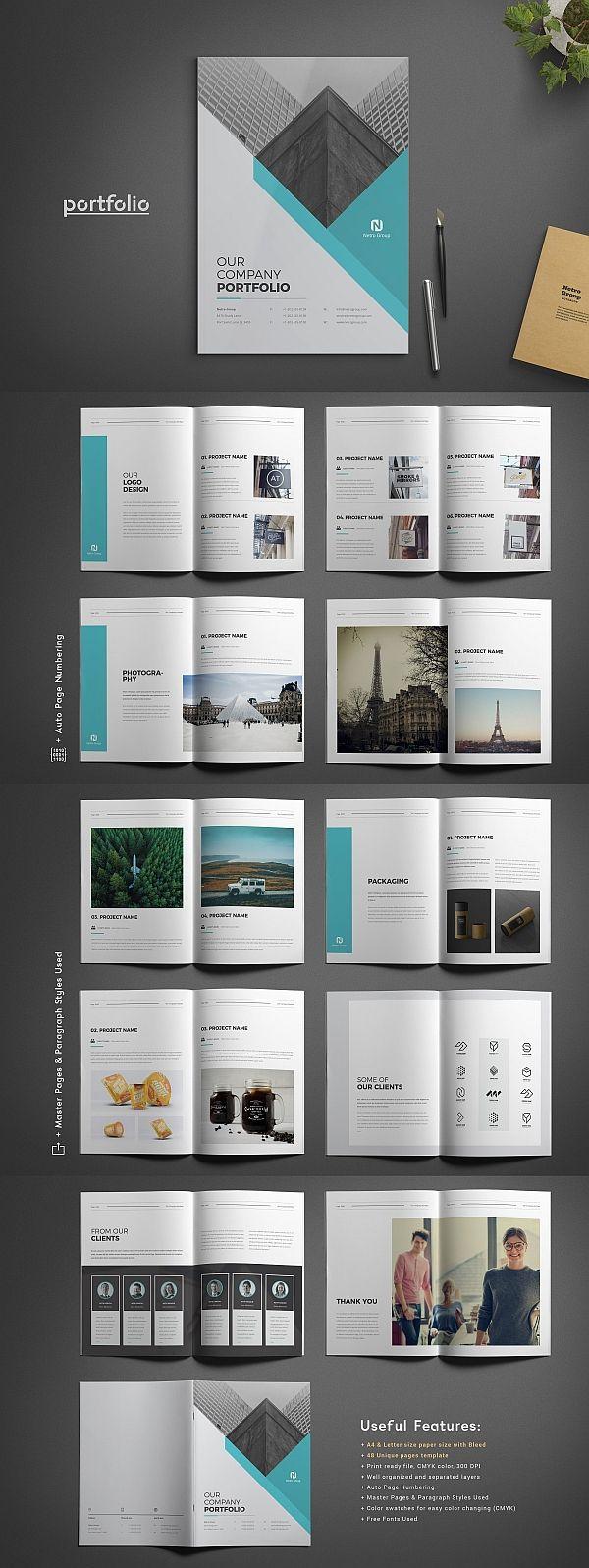 Company Portfolio Template #portfolio #lookbook #brochure #template #brochuretemplates #indesign #templates #layout #editorial #corporate #business