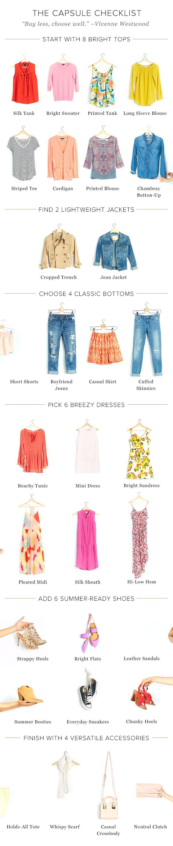 Summer capsule wardrobe ideas