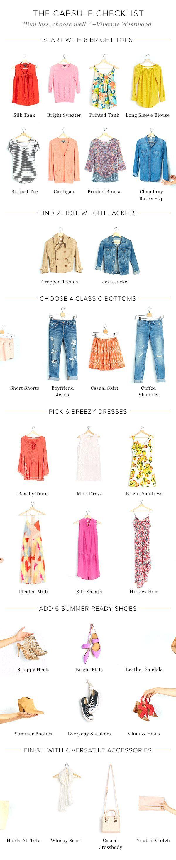 Summer capsule wardrobe ideas