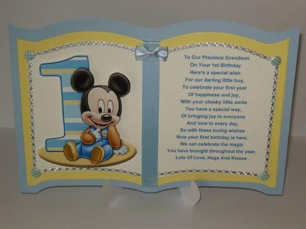 Grandson or Son 1st Birthday Card Personalised – Son 1st Birthday Card