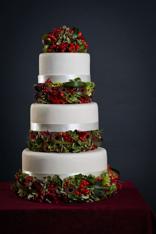Wedding Cake Berries And Flowers Bournemouth 1229