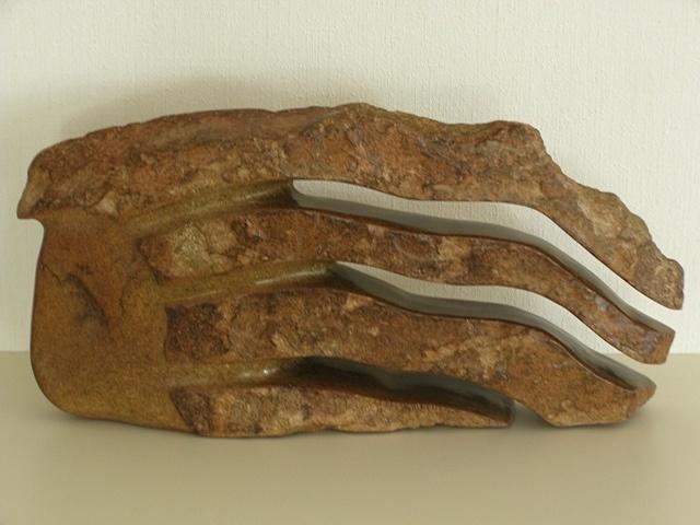 Windkracht acht, serpentijn.  Gemaakt door Joke Stam-Hansma, 2008