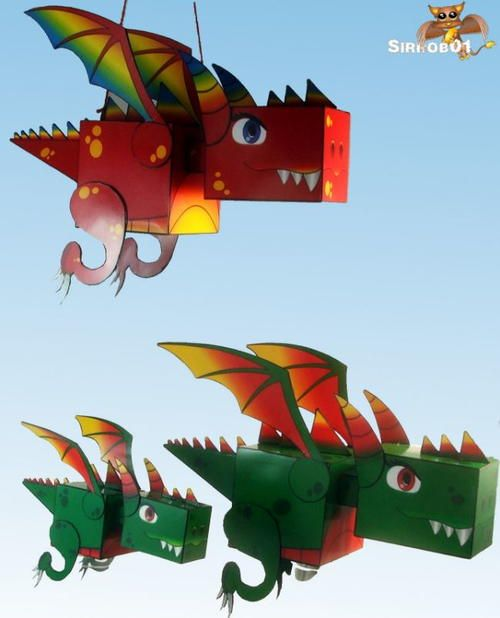 Kuboid Printable Paper Dragons | These 3D paper crafts for kids are the best for dragon craft lovers!