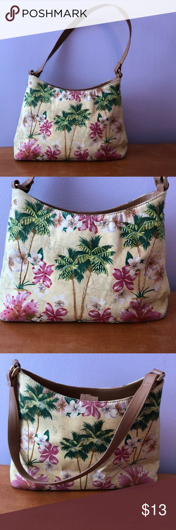 """Spring Bag Not a brand name, just love the colors & detail 13""""X8"""" Lots of sp…"""