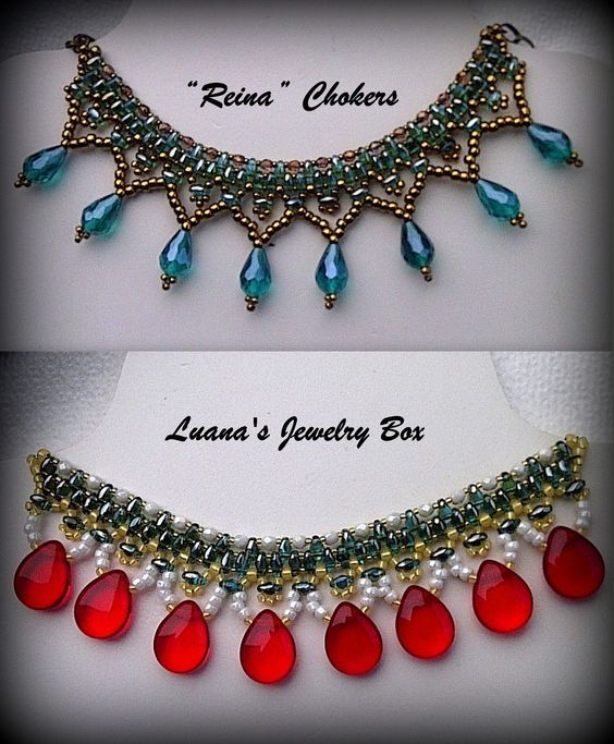 "DIY Christmas Beaded choker with Superduo beads - ""Reina"" beading tutorial"