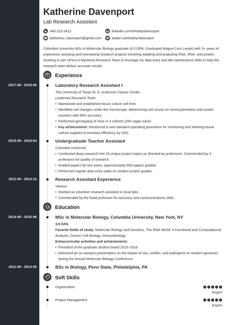48++ Research internship resume examples trends