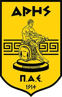 Aris Football Club (Aris Thessaloniki) / Π.Α.Ε. Άρης | Country: Greece / Ελλάδα. País: Grecia. | Founded/Fundado: 1914/03/25 | Badge/Crest/Logo/Escudo.