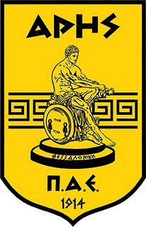 Aris Football Club (Aris Thessaloniki) / Π.Α.Ε. Άρης   Country: Greece / Ελλάδα. País: Grecia.   Founded/Fundado: 1914/03/25   Badge/Crest/Logo/Escudo.