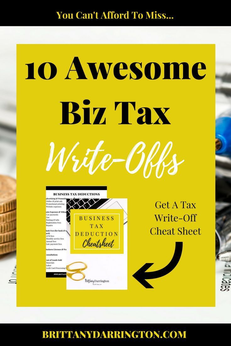 Here Are The 10 Insanely Awesome Business Tax Deductions Write