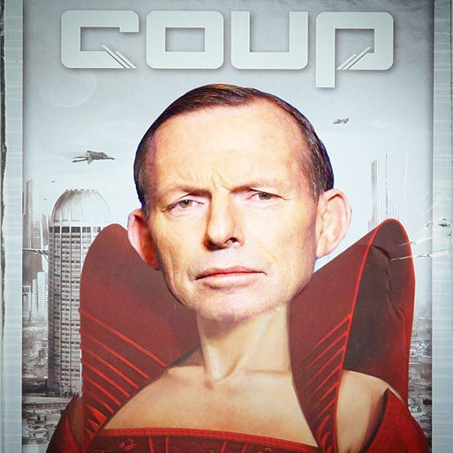 Australian gamers tentatively await the outcome of this game. #libspill #auspol #tabletop #tabletopgame #tabletopgamer #tabletopgames #tabletopgaming #coup #coupgame #tonyabbott  #aussiegamer #aussietabletop #AustralianTabletop #politics #boardgame #boardgamer #boardgames #boardgaming #boardgamegeek #bgg #cardgame #mashup #humor #primeminister #dontletthedoorhityouonthewayout