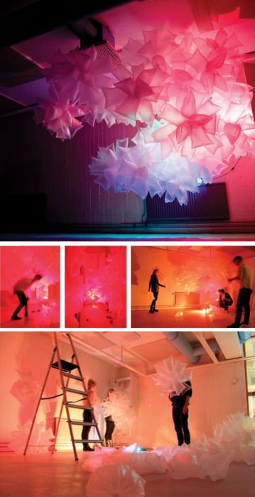 Plastic Bag Installation ▶▶▶ Lund School of Architecture