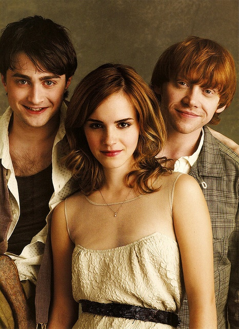 Harry, Hermione, and Ron