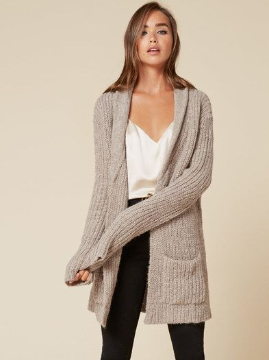 Cozy up.This is an open front cardigan with pockets and a shawl collar.
