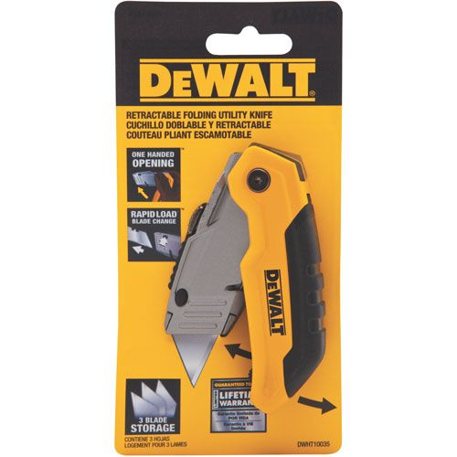 DWHT10035 Folding Retractable Utility Knife | DEWALT Tools