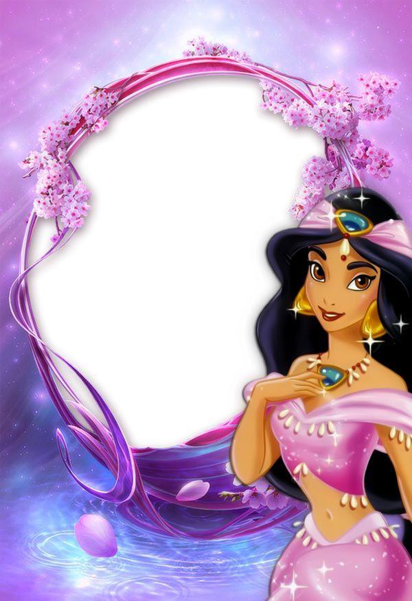 Princess Jasmin purple photo frame for kids   :)