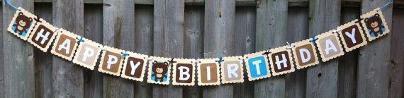 Teddy Bear Theme Personalized Name Banner by LittleMissStarchick