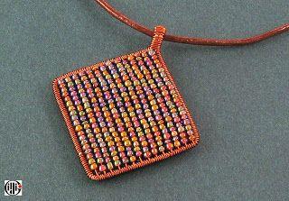 Ildi-go colours: Egyszerű vörösréz drótmedál / Simple cooper wire pendant