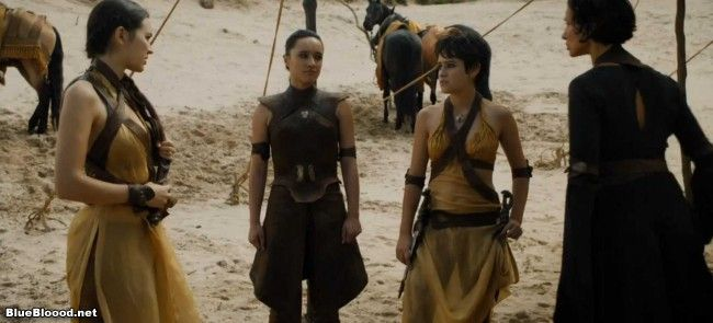 Game of Thrones, Season 5, Episode 44: Sons of the Harpy, or I Hate to Say I Told You So (Link: http://www.blueblood.net/2015/05/game-of-thrones-season-5-episode-44-sons-of-the-harpy-or-i-hate-to-say-i-told-you-so/) Our new episode of Game of Thrones begins with the next stage of Tyrion's journey, which involves Jorah dry-gulching some poor fisherman and stealing his livelihood (nice tip). Jorah's a prick and is making sure that Tyrion knows it.  On another boat, Jaime ge