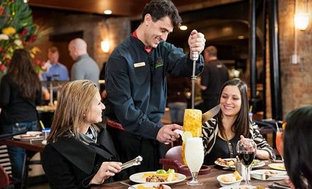 Groupon - Brazilian Steakhouse Dinner with Wine for Two or Four at Rodizio Grill (Up to Half Off). Groupon deal price: $55.00