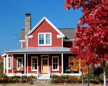 Red Barn or BoothBay Blue? Exterior Inspiration by On the Banks of Squaw Creek