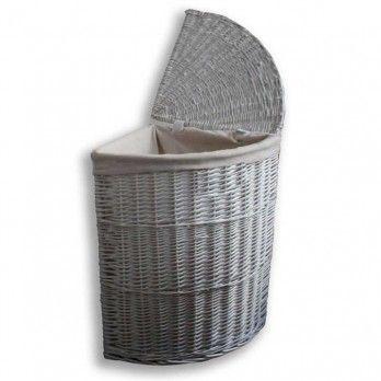 Die besten 25+ weißer Korbgeflecht Wäschekorb Ideen auf Pinterest - badezimmerschrank mit wäschekorb