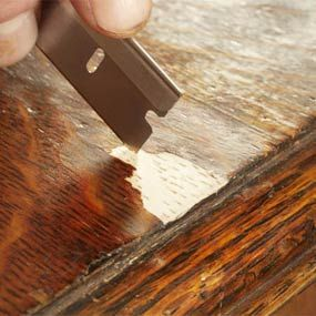 """fixing missing veneer from furniture - definitely a """"a-ha!"""" moment!"""
