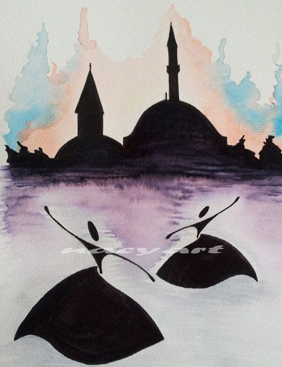 Original Painting Whirling Dervish spinning dervish by nacyart
