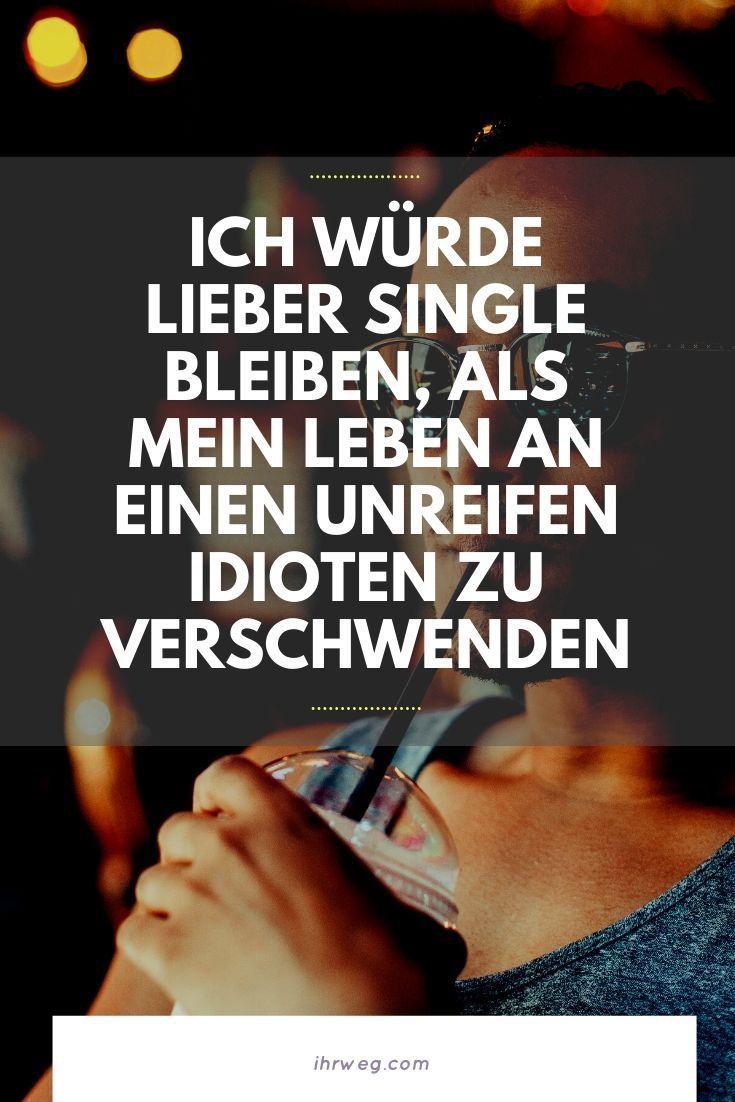Als Single Leben