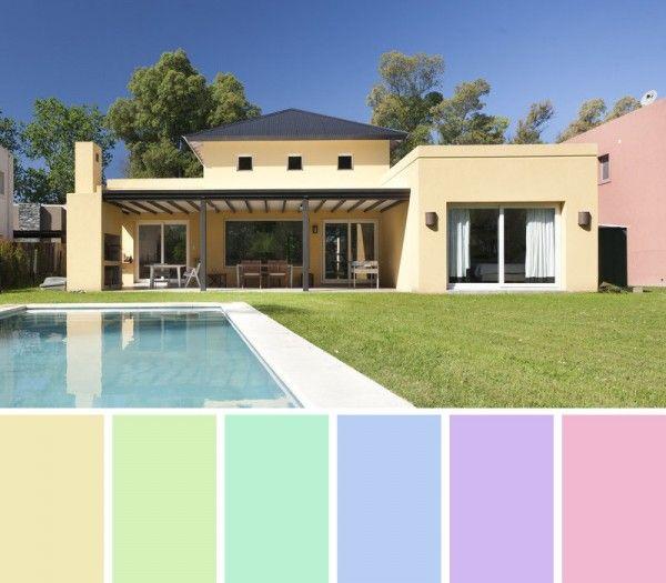 Las 25 mejores ideas sobre combinaciones de colores for Pintura de exteriores de casas pequenas
