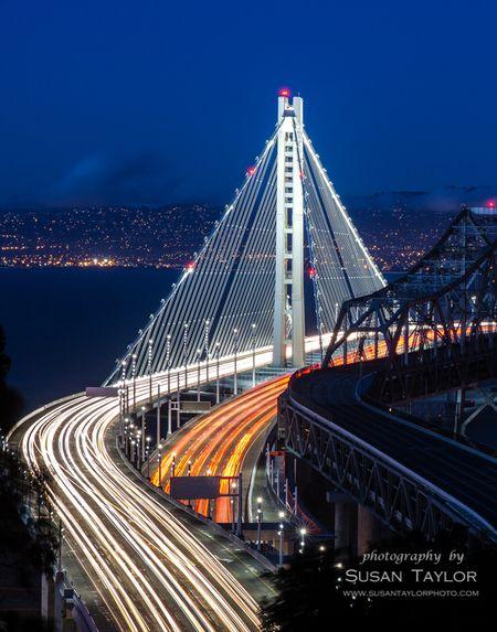 Treasure Island on far side of eastern end of San Francisco/Oakland California Bay Bridge, United States Susan Taylor