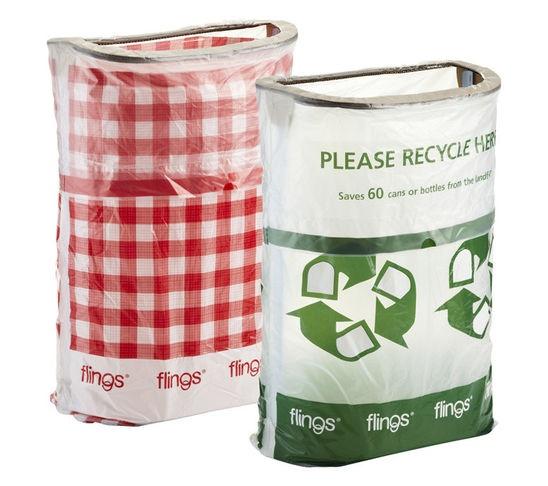 flings pop up trash bins